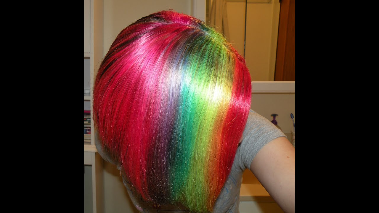 dye hair rainbow