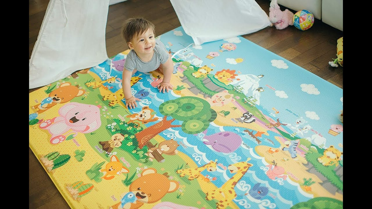 Baby Care Play Mat Foam Floor Gym - Non-Toxic Non-Slip Reversible  Waterproof, Pingko and Friends