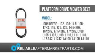 GY20570 GX20072 Pix New John Deere 1 2 x 103 3 Platform Drive Mower Belt 115 +