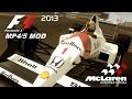 AYRTON SENNA McLaren MP4/5 MOD (F1 2013) - Gameplay