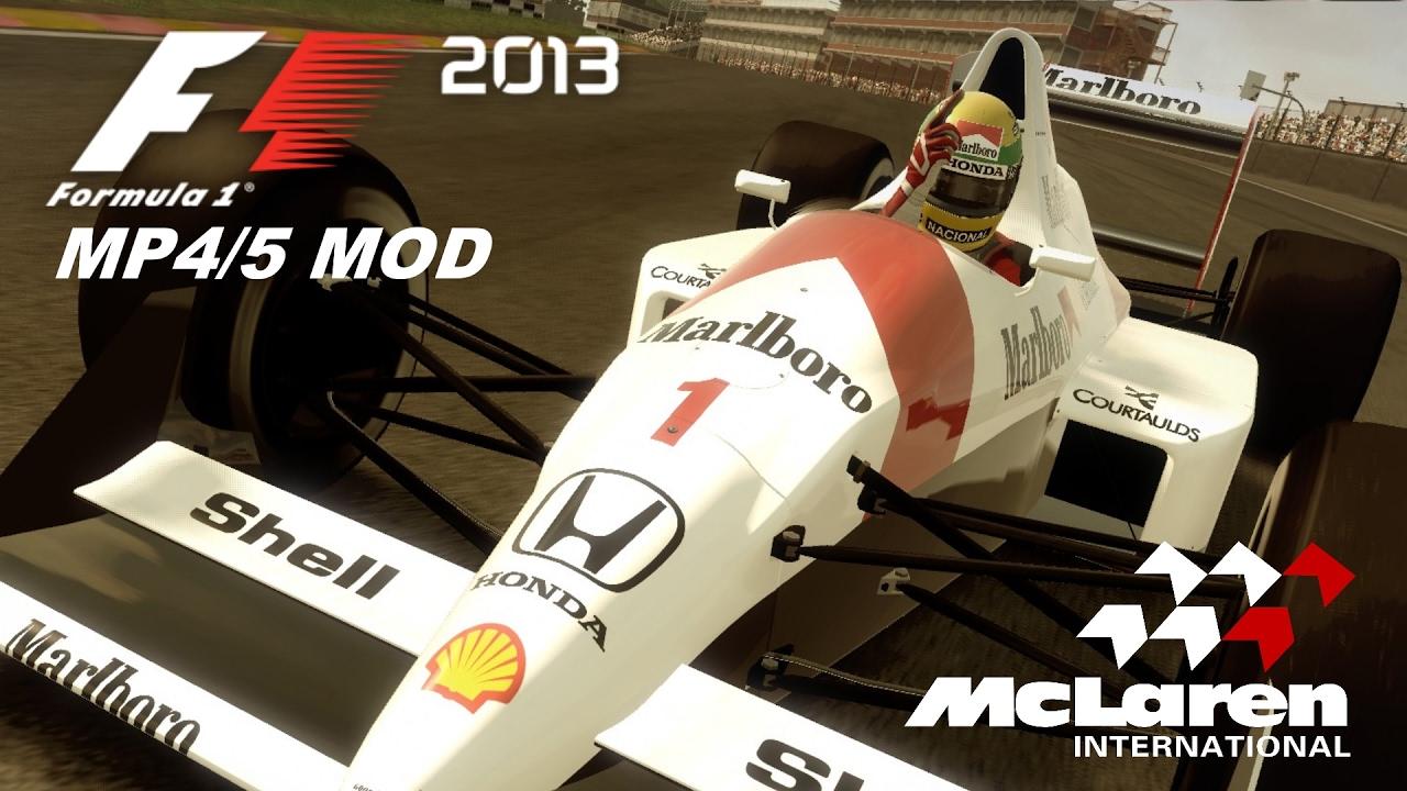 ayrton senna mclaren mp4/5 mod (f1 2013) - gameplay - youtube