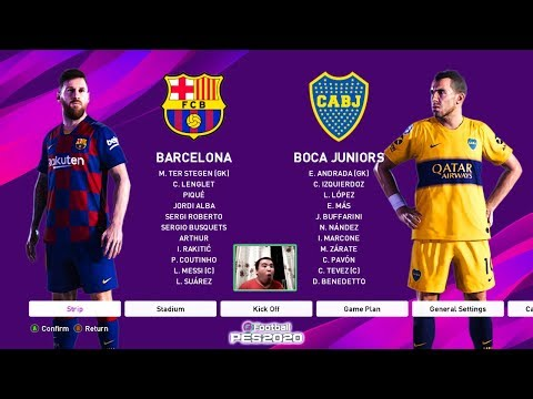 PES 2020 | Barcelona Vs Boca Juniors | Gameplay PC