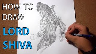 How to draw Lord Shiva - speed drawing Time Lapse