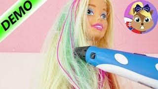 Barbie vlasy skrášlené 3D perom | Barbie účes 3D perom | 3D pero po slovensky | Barbie premena