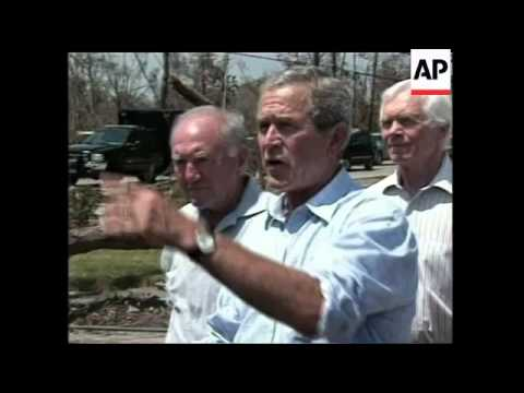 President tours hit areas in Mississipi