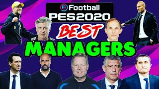 PES 2020 BEST MANAGERS - New Formation & New Management Ratings! 😍😍 (Mobile & PC)