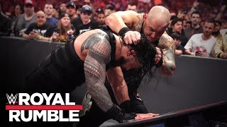 Corbin smashes Reigns onto international announce tables: Royal Rumble 2020 (WWE Network Exclusive)