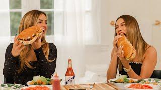Addison Rae & Hailey Rhode Bieber make sandwiches & play Shoot or Truth