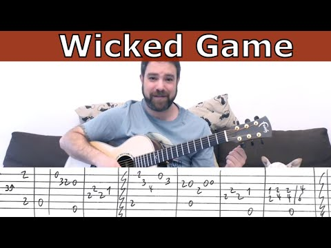 Fingerstyle Tutorial: Wicked Game (C. Isaak) - FULL Instrumental - Guitar Lesson w/ TAB