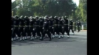 Indian Army music band marching on Republic Day Parade