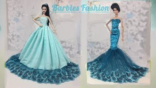 Download Video 2 DIY BARBIE DRESSES/MAKE THE MOST BEAUTIFUL BARBIE DOLLS PARTY DRESSES MP3 3GP MP4