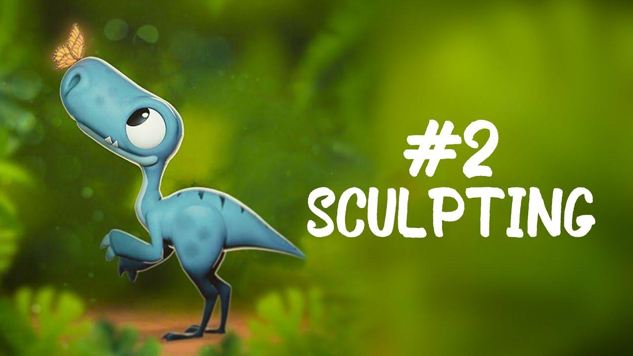 Sculpting A Cute Raptor - Blender 2.9 (Using a Mouse)