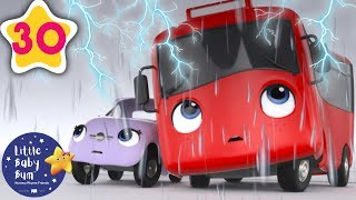 My Little Red Bus and The Storm | Go Buster | Baby Songs +More Nursery Rhymes | Little Baby Bum