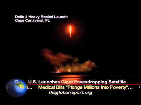 U.S. Launches Giant Eavesdropping Satellite