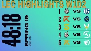LEC Highlights ALL GAMES Week 1 Day 2 Spring 2019 | League of Legends European Championship