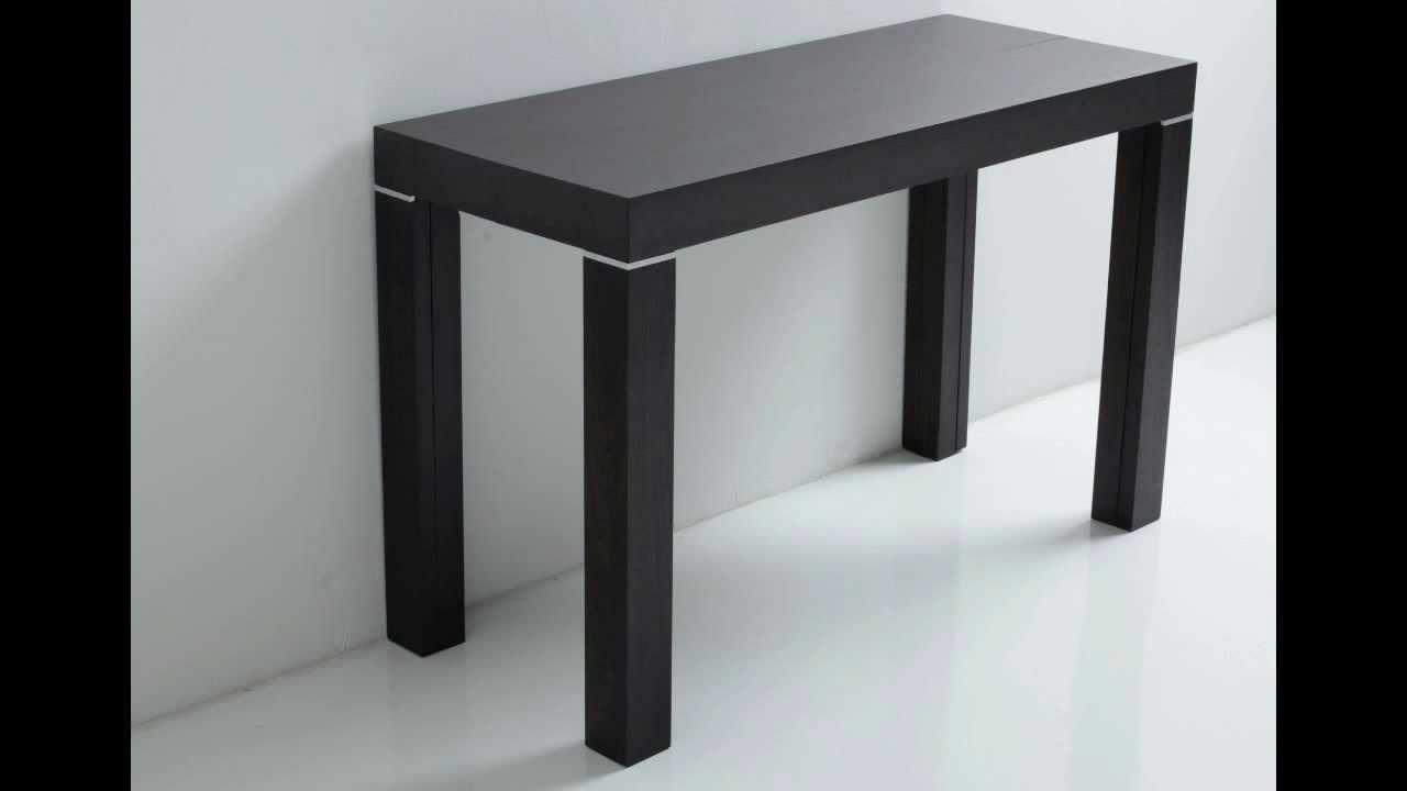 Tavoli e Consolle Allungabili in Legno Massello - YouTube