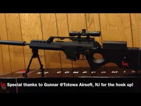 Elite Force HK SL9 - Target Shooting - YouTube