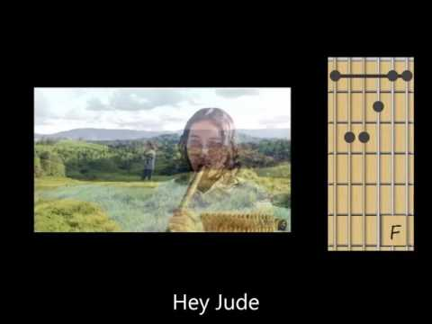 Hey Jude (Beatles) Guitar Chords, lyrics flute instrumental