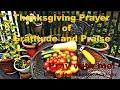 Thanksgiving Prayer of Gratitude and Praise