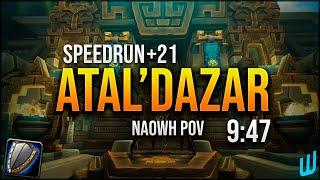 Speedrun 21+ Atal'Dazar - Wunderbar MDI Finals 2020 - Naowh Protection Warrior POV