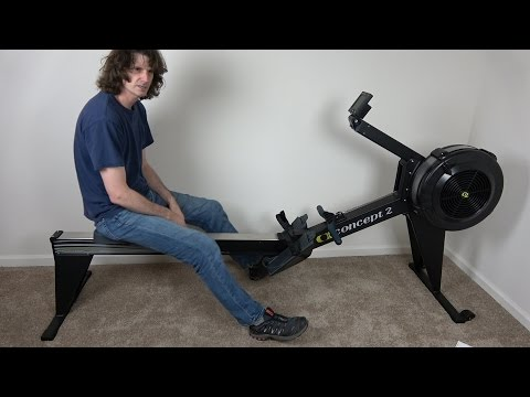Concept 2 Model E Rowing machine unboxing assembly review 2017