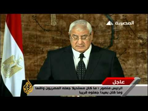 Adly Mansour: Some want chaos, we want stability