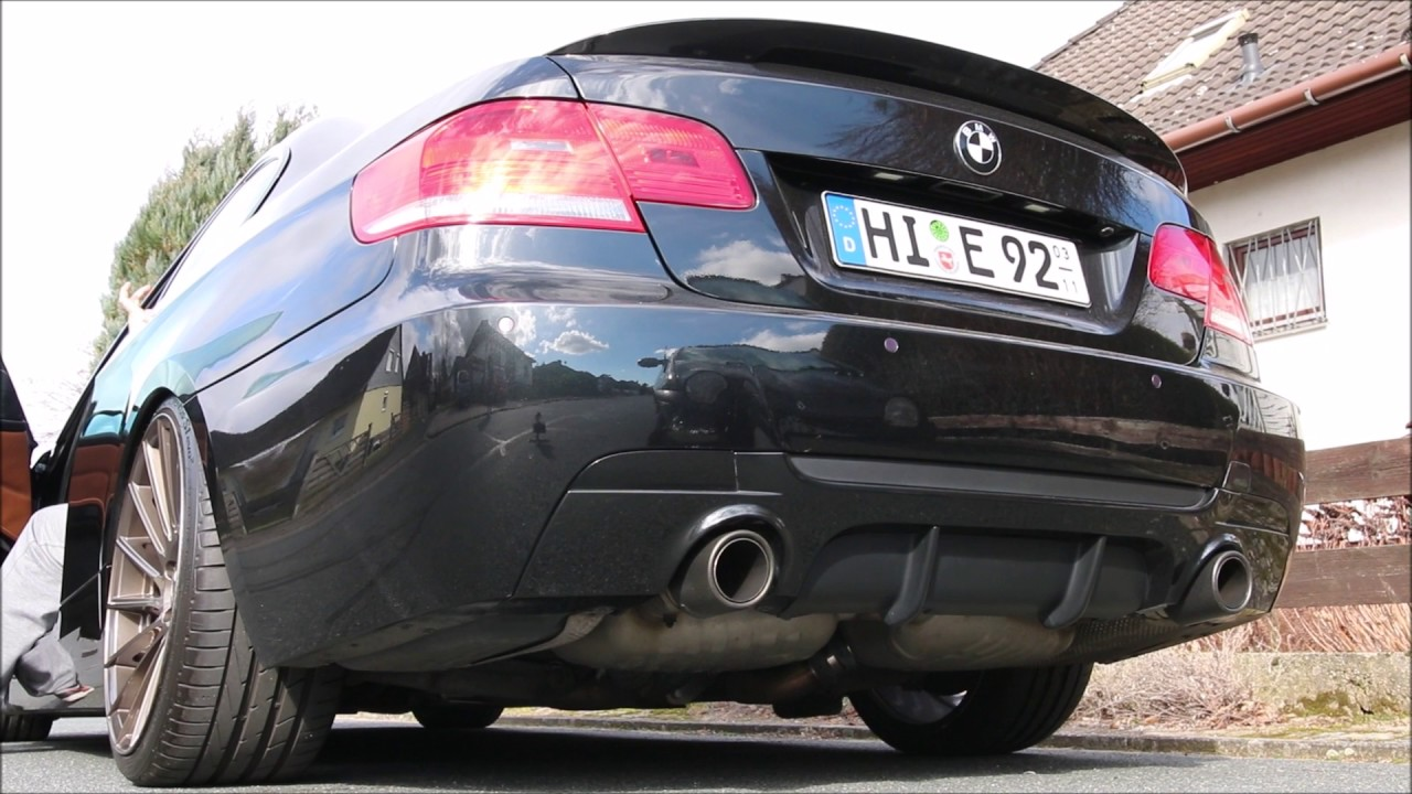 Bmw e92 335i cold start oem performance exhaust with straight pipe catless
