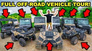 I Bought TOO MANY! FULL TOUR of ALL My OFF-ROAD VEHICLES!!! ($10,000 ATV GIVEAWAY)