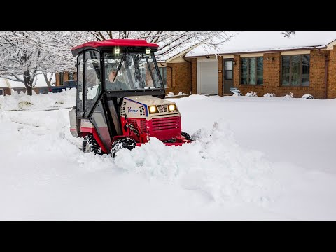 Tractor V-Blade Snow Plow - Real World Work