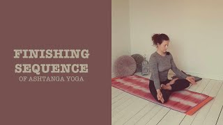 The finishing sequence of Ashtanga yoga
