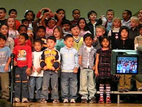 Suhas Singing in Braly Elementary School on 27th Jan 2009