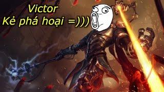 Victor đi TOP trong tay Linh nhọ =)) '' Liên Minh Huyền Thoại ''