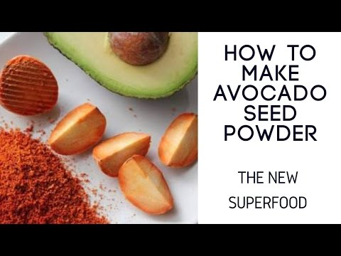 HOW TO MAKE AVOCADO SEED POWDER. THE NEW SUPERFOOD.