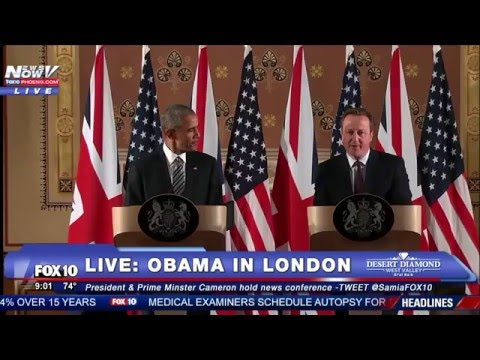 FULL: Obama and Cameron Hold Joint Press Conference in London - FNN