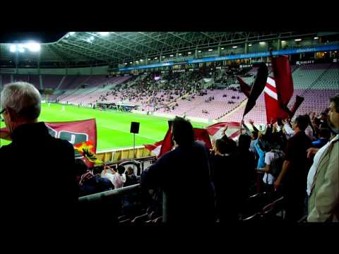 Servette FC Geneve fans during a home game