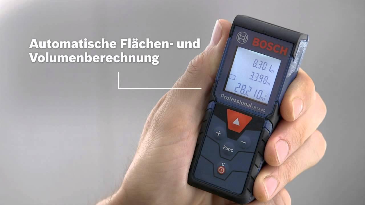Bosch Laser Entfernungsmesser : Bosch laser entfernungsmesser glm professional youtube
