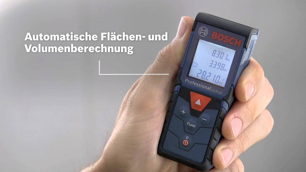 Laser Entfernungsmesser Profi : Bosch laser entfernungsmesser glm 40 professional youtube