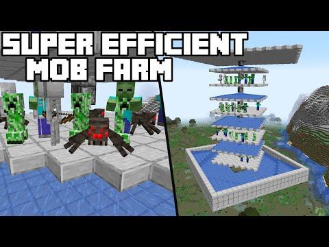 Super Efficient Mob Farm - Minecraft 1.16+ Tutorial (Java Edition)
