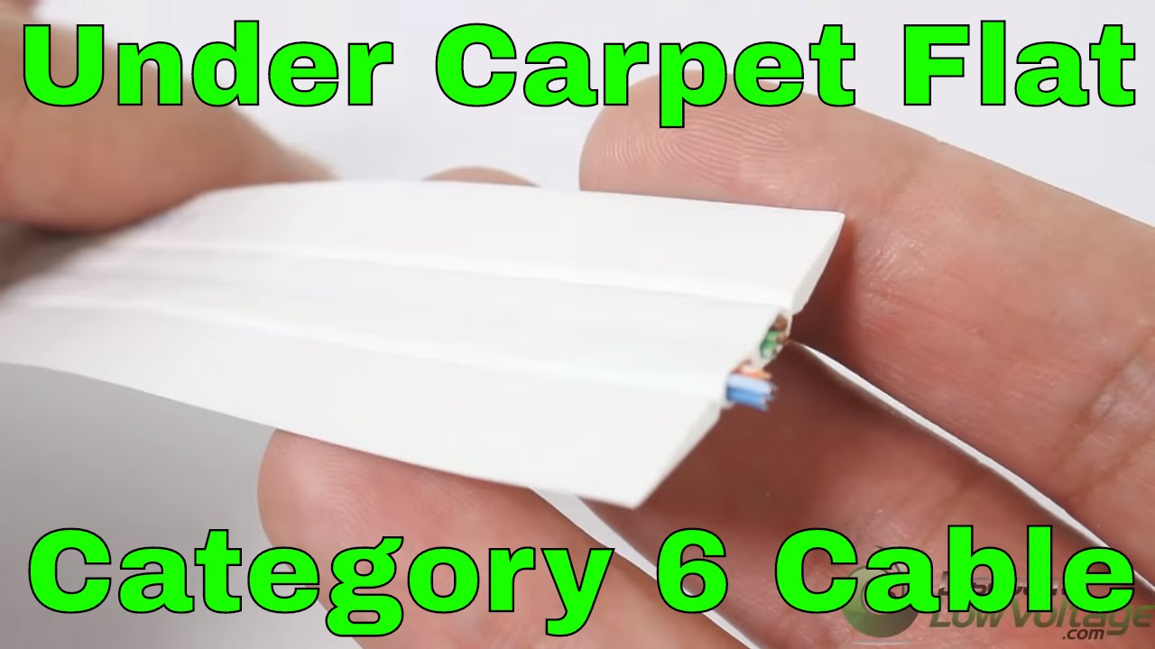 Under the carpet category cable for home or commercial installation ...