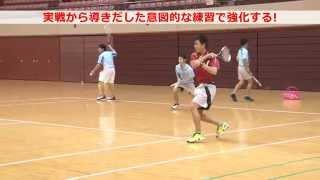 【東北高校ソフトテニス】細かく1点をとる!!こだわりの練習パターン