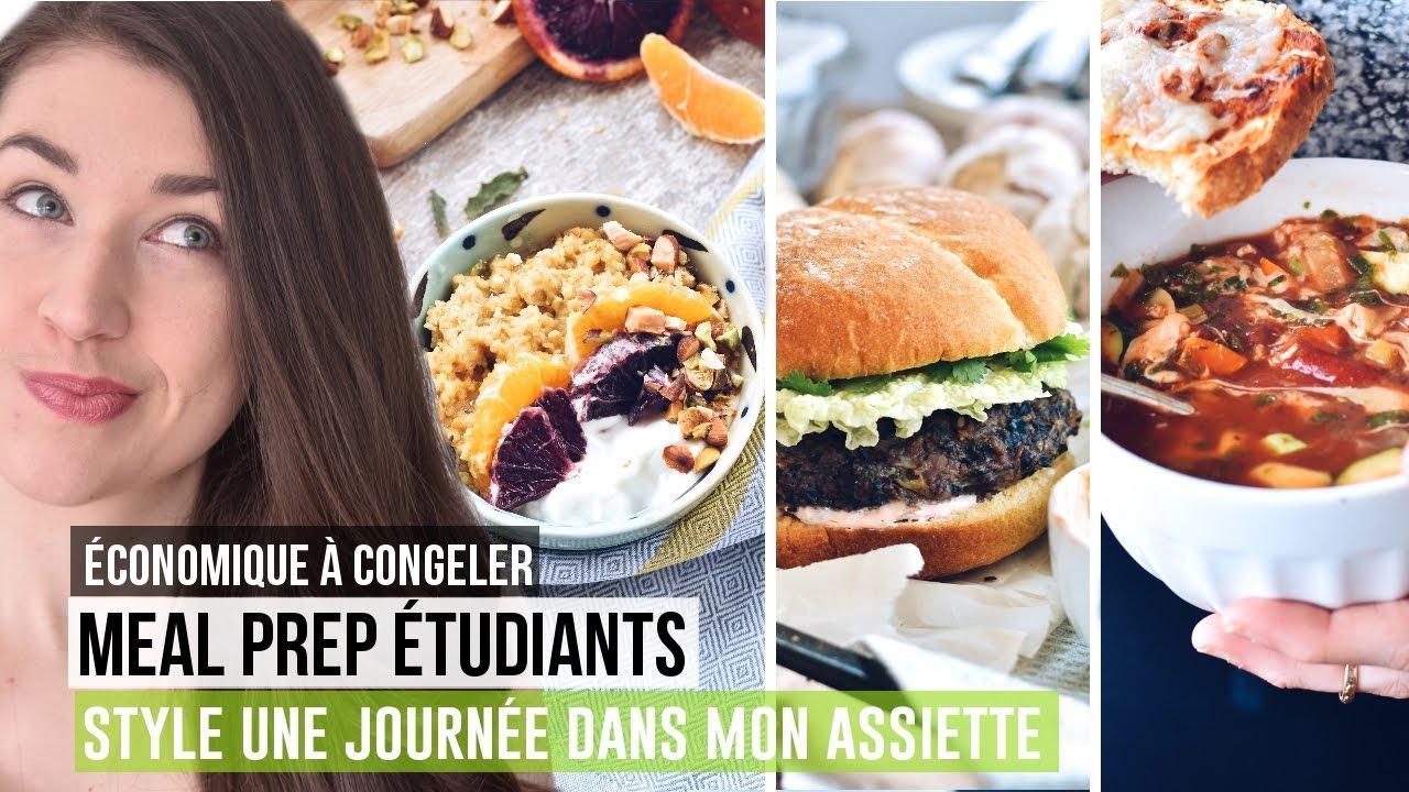 Idee Recette Etudiant.Meal Prep Etudiant Style Une Journee Dans Mon Assiette Recettes Economiques A Congeler