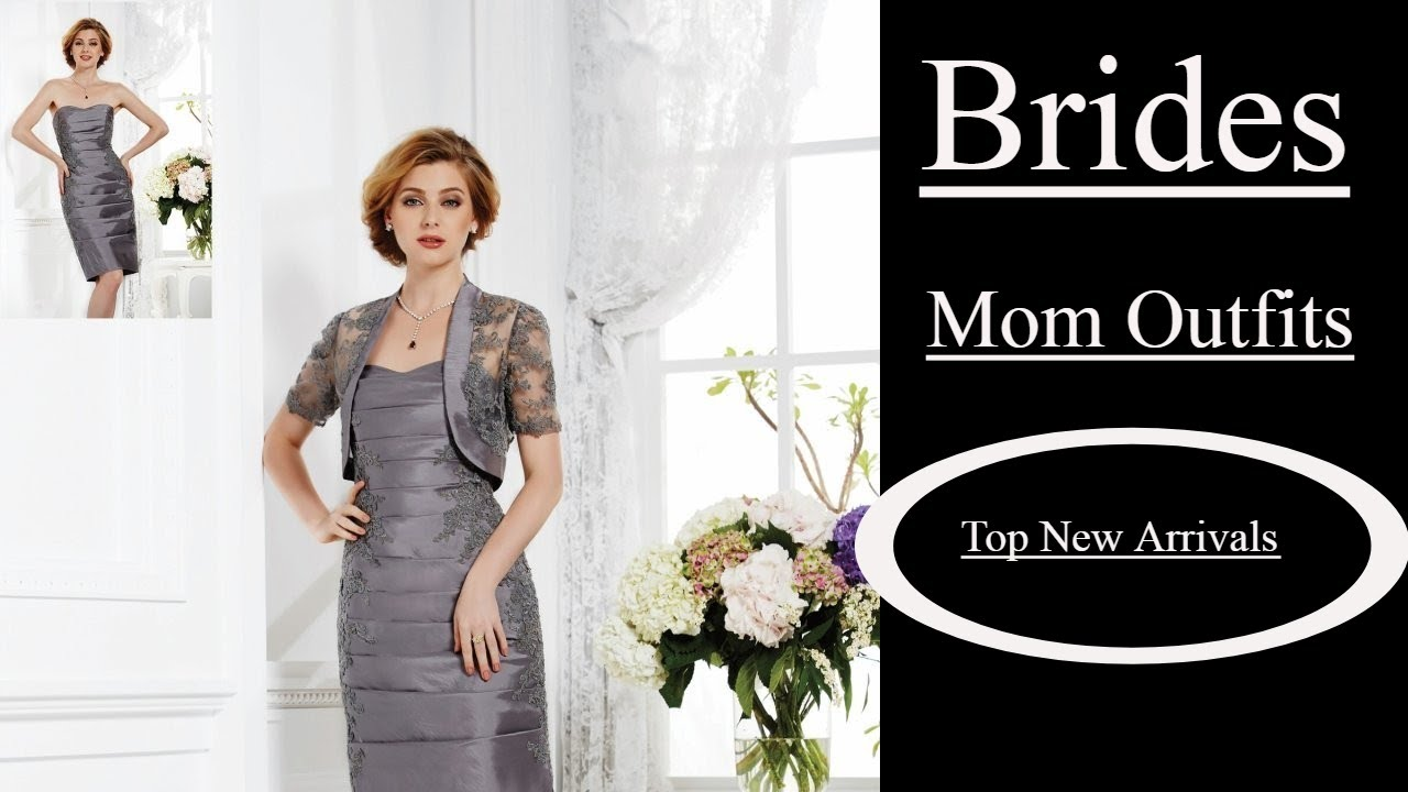 Mother Of The Bride Dresses With Jackets Knee Length 2018 Top 10 Newest Arrivals Youtube