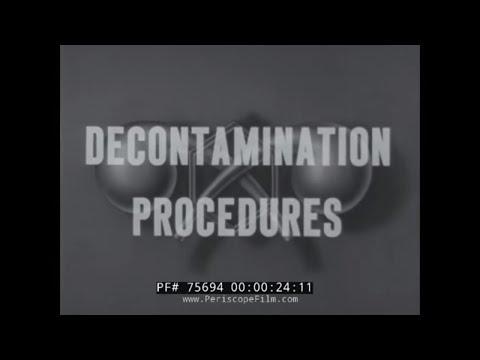 WWII MUSTARD GAS DECONTAMINATION 1942 TRAINING FILM 75694