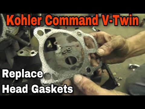 How To Replace The Head Gaskets On A Kohler Command V-Twin Engine with Taryl