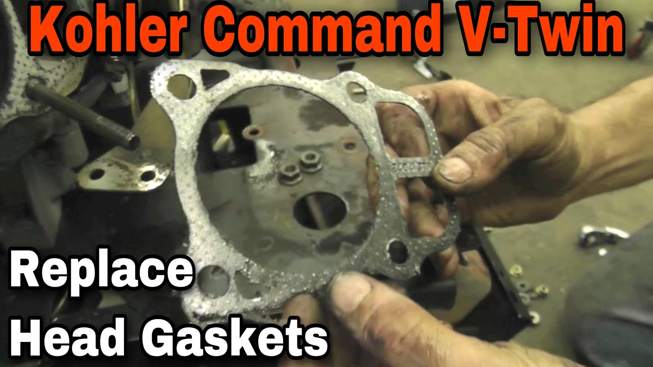 Cub Cadet Wiring Diagram Bobcat 843 Parts How To Replace The Head Gaskets On A Kohler Command V-twin Engine With Taryl - Youtube