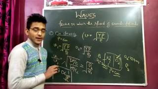 CLASS 11TH : FACTORS AFFECT SPEED OF SOUND