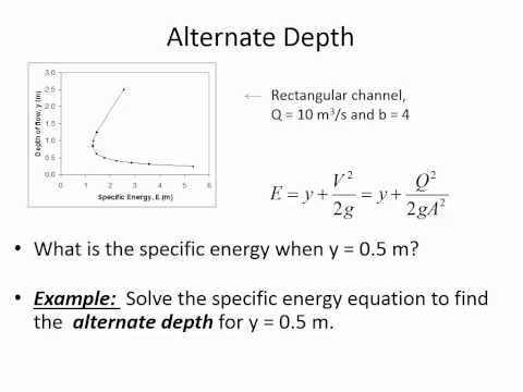 CE 331 - Class 19 (3/24/2015) Specific Energy, Critical Flow