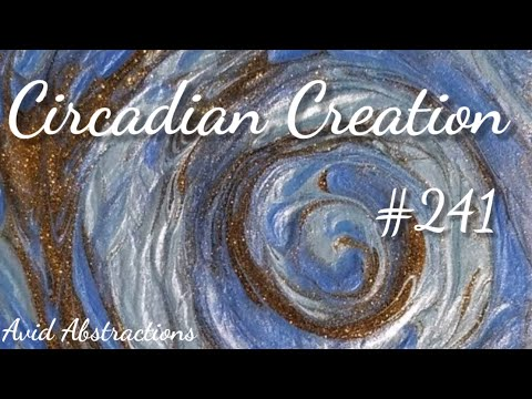 Abstract Acrylic Speed Painting Techniques: Glittering Intentions