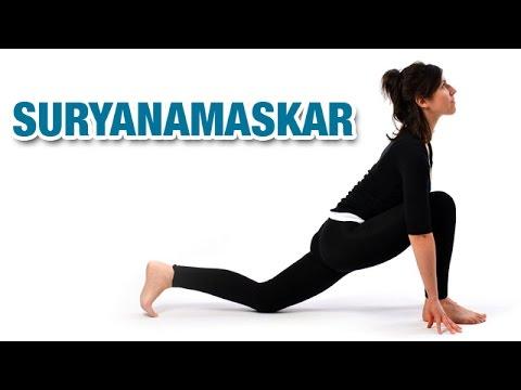 suryanamaskar  sun salutation  yoga for beginners  youtube