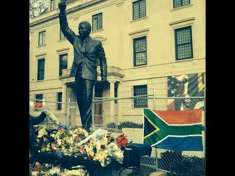 Nelson Mandela Vigil (music and dance) at the South African Embassy in Washington, DC